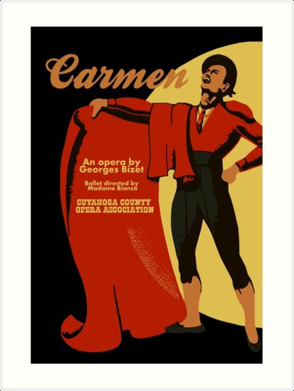 Retro vintage art Carmen opera (Toreador) by aapshop