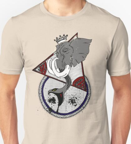 Bull Elephant With Snake Trunk T-Shirt