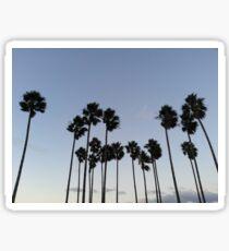 Palm Trees Over San Diego California Sticker