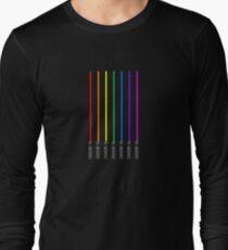 Lightsaber Rainbow Long Sleeve T-Shirt