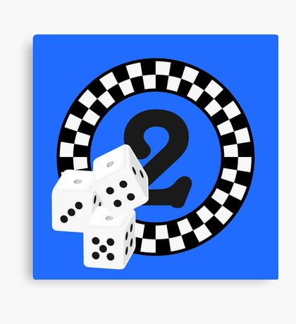 Bunco Dices - Table No Two VRS2 Canvas Print