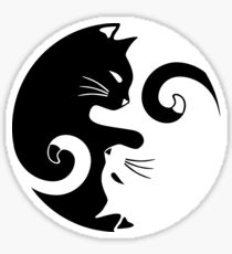 Yin Yang Cats Sticker