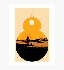 Star Wars The Force Awakens BB8 Poster Art Print