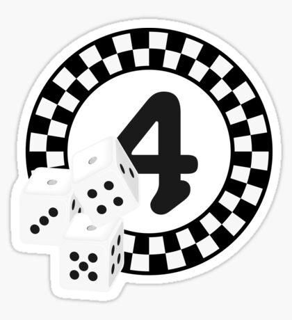 Bunco Dices - Table No Four VRS2 Sticker
