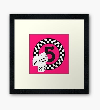 Bunco Dices - Table No Five VRS2 Framed Print