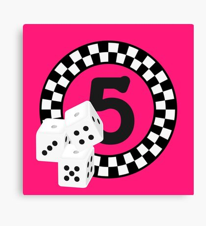 Bunco Dices - Table No Five VRS2 Canvas Print