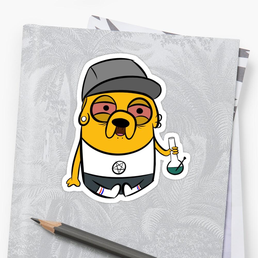 Jake the stoner sticker by xaspire redbubble