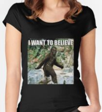 Chewy in the woods Women's Fitted Scoop T-Shirt