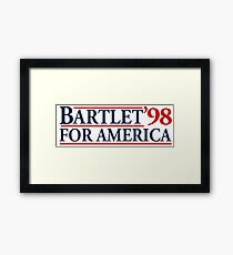 Bartlet for America Slogan Framed Print
