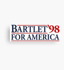 Bartlet for America Slogan Canvas Print