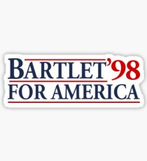 Bartlet for America Slogan Sticker