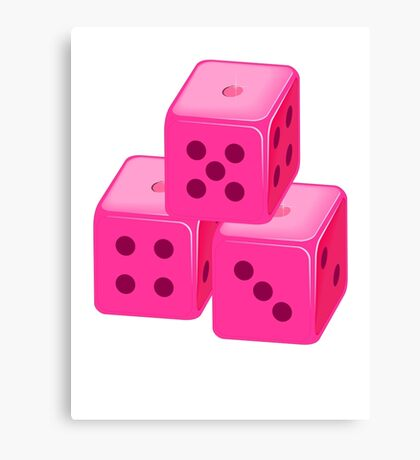 Pink Bunco Dices VRS2 Canvas Print