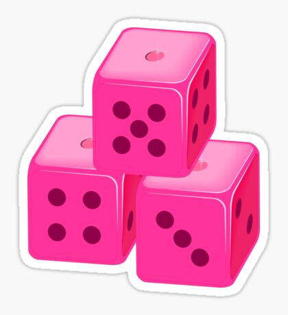 Pink Bunco Dices VRS2 Sticker