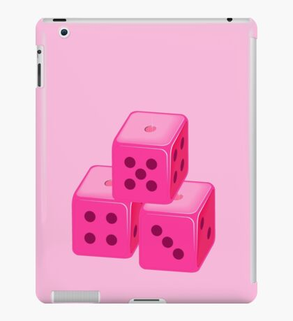 Pink Bunco Dices VRS2 iPad Case/Skin