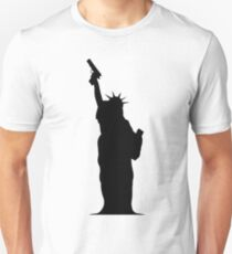 Lady Liberty with Gun T-Shirt