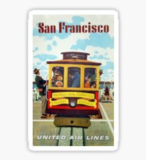 Vintage poster - San Francisco Sticker