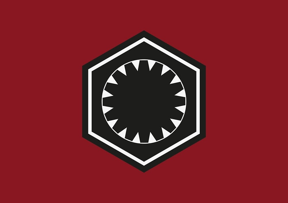 Star Wars First Order Logo By Kingdong Redbubble