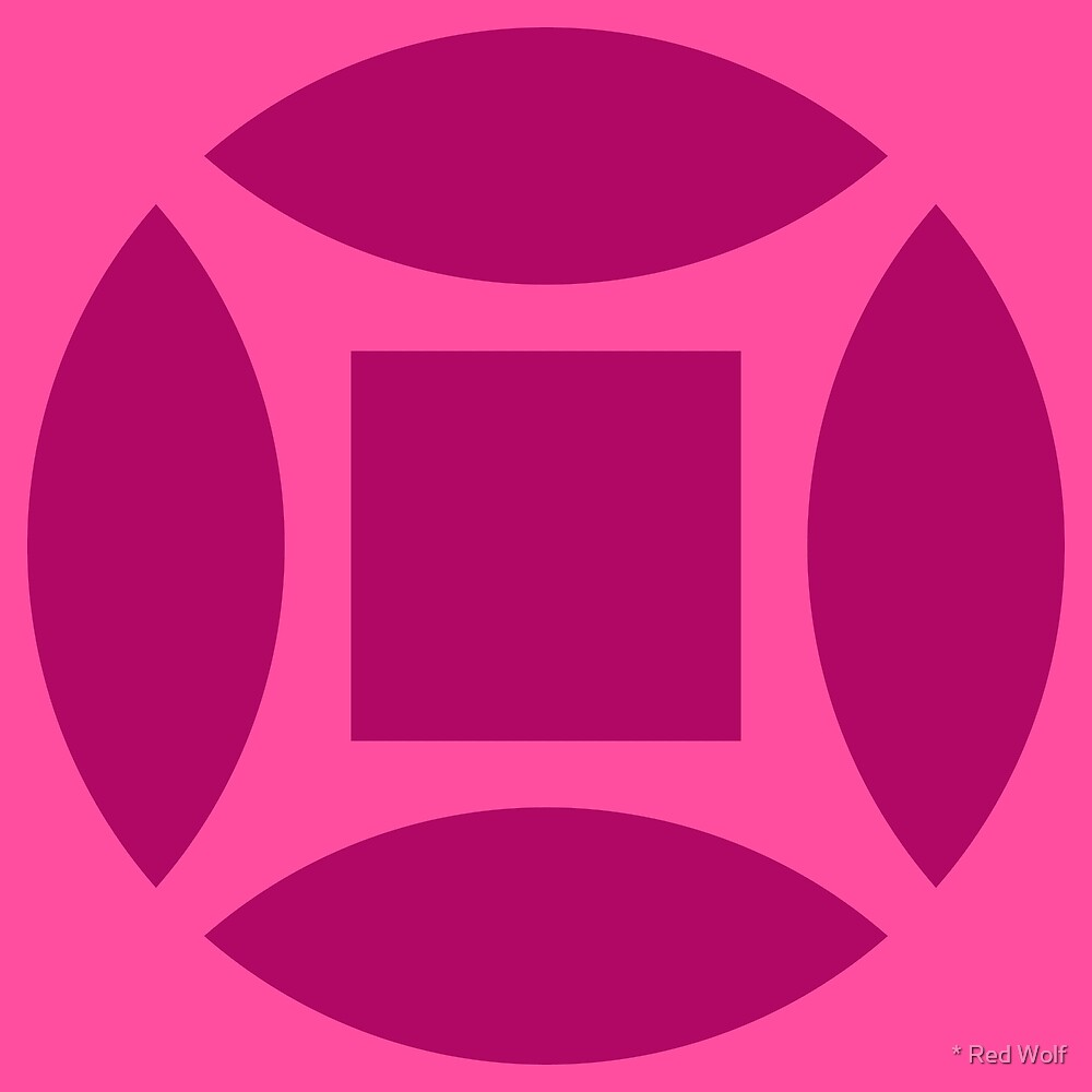 Geometric Pattern: Intersect Square: Berry by * Red Wolf
