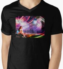 Wishing on a star... for someone from afar Men's V-Neck T-Shirt