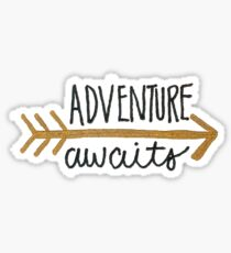 Adventure Awaits Arrow Sticker