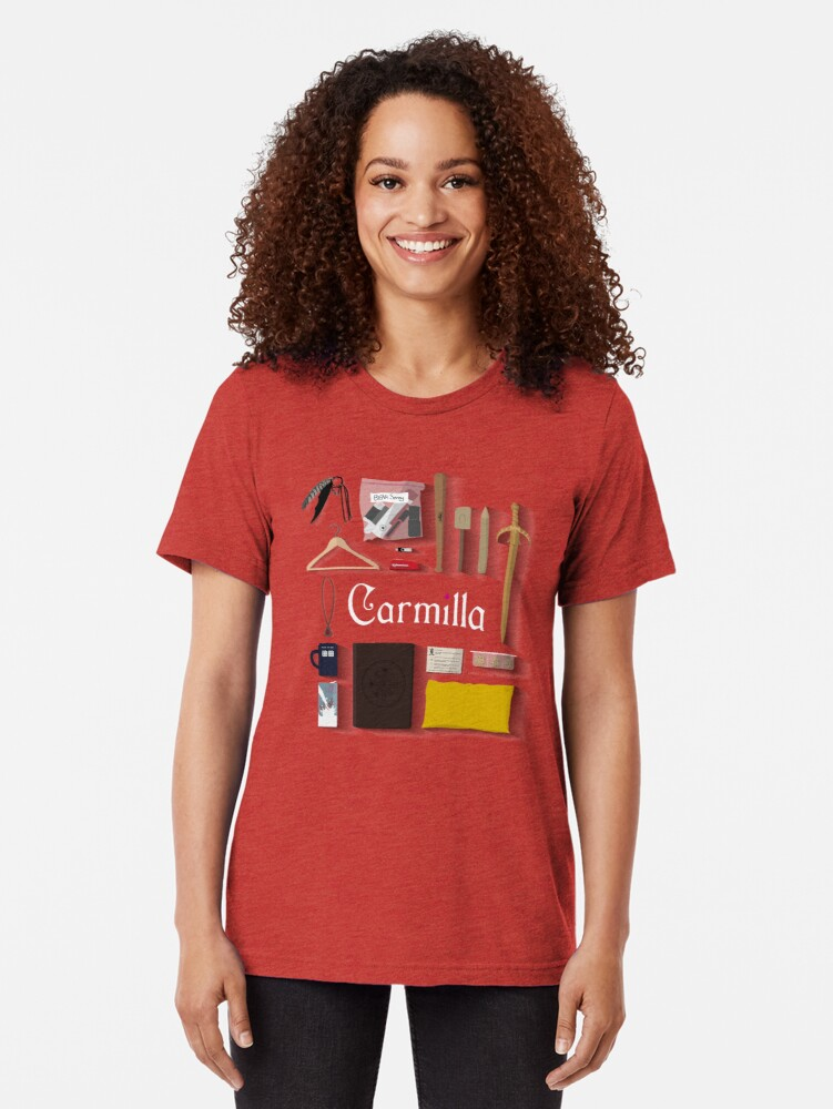 Vista alternativa de Camiseta de tejido mixto Artículos de Carmilla