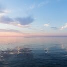 Silky Satin on the Lake - Blue and Pink Serenity  by Georgia Mizuleva