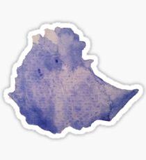 Ethiopia Watercolor Silhouette Sticker