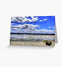 Reflections - 5 Mile Beach - Tasmania Greeting Card