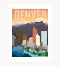 Mile High City Art Print
