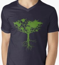 Earth Tree Classic Men's V-Neck T-Shirt