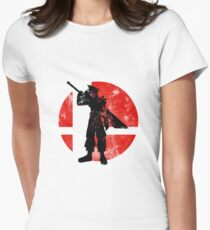 Cloud Strife Smash - Red Women's Fitted T-Shirt
