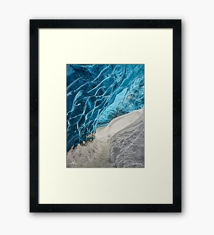 Ice Cave Pathway Framed Print