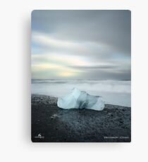 Black Sand Iceberg Canvas Print