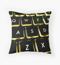 WASD Black and Gold Throw Pillow