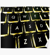 WASD Black and Gold Poster