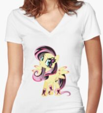Goth Fluttershy Women's Fitted V-Neck T-Shirt