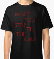 "One Direction ""A.M."" Design Classic T-Shirt"
