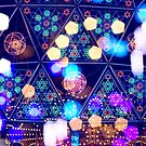 Colorful Psychedelic Bokeh Lights Shapes Amusement Park Tokyo by Beverly Claire Kaiya