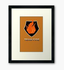 Team Fire Framed Print