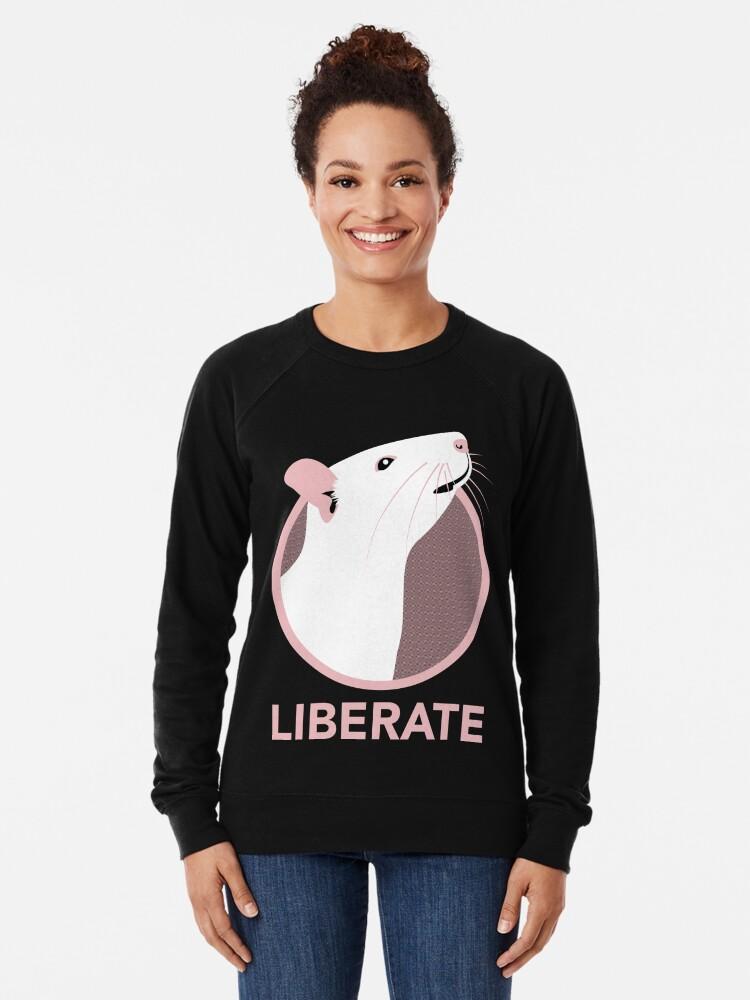 Alternate view of Liberate (Rat) Lightweight Sweatshirt
