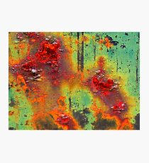 Colours of a Rusty Sign Photographic Print