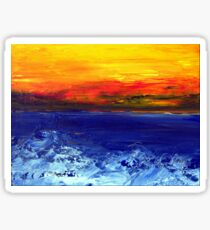 Sea and sky Sticker