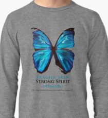 Beautiful Blue Butterfly Proceeds donated to DebRa.org Lightweight Sweatshirt