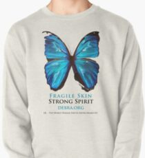 Beautiful Blue Butterfly Proceeds donated to DebRa.org Pullover
