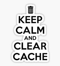 Keep calm and clear cache Sticker