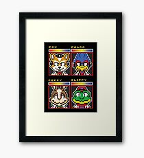 Star Fox Comm Faces - Pixel Art Framed Print