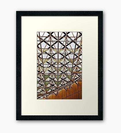 Geometric ceiling Framed Print