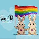 Skip & Pip (aka the Pride Bunnies) by Catherine Dair