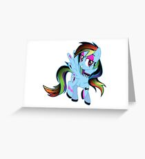 Goth Rainbow Dash Greeting Card