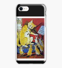 Cat Plays Violin for Dancing Rats - Victorian-era Anthropomorphic Art iPhone Case/Skin